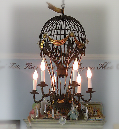 Notes from a cottage industry hot air balloon chandelier for sale 1hot air balloon mozeypictures Images