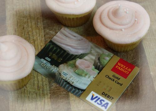 A cupcake debit card