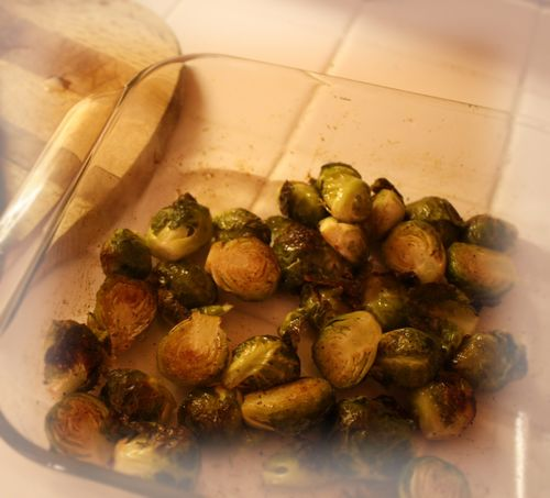 Brussel sprouts after roasting