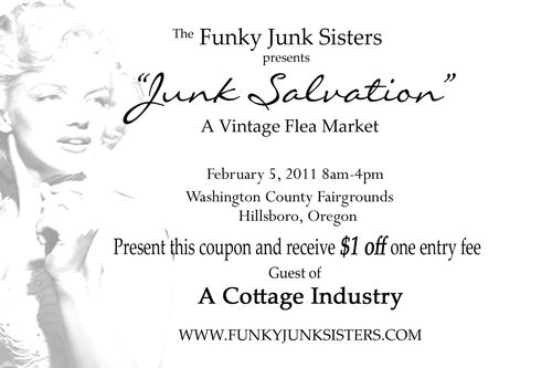 Coupon funky junk sisters event