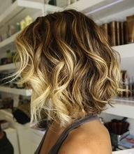 Short ombre hair did