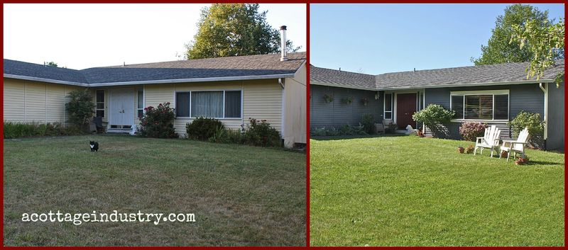 House before and after outside