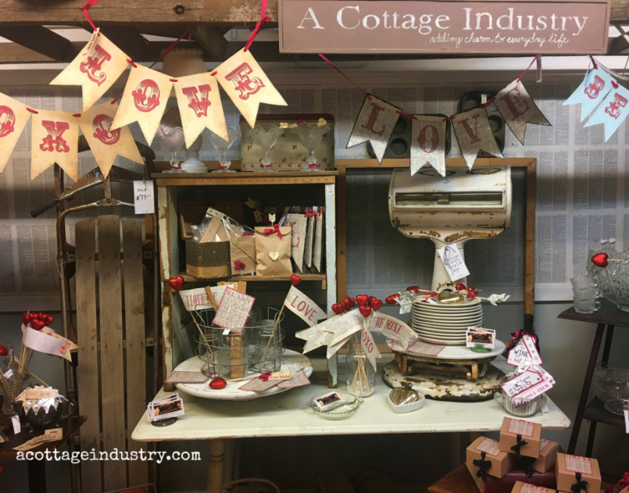 Booth at Valentines time, acottageindustry.com