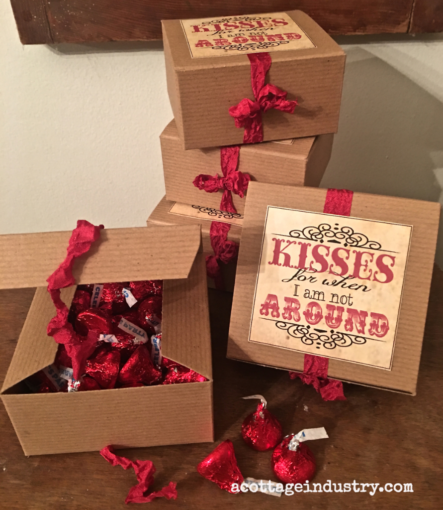 vintage theme valentine treat box
