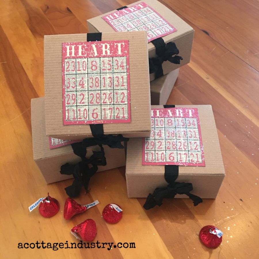 Heart Bingo Valentine Treat Box