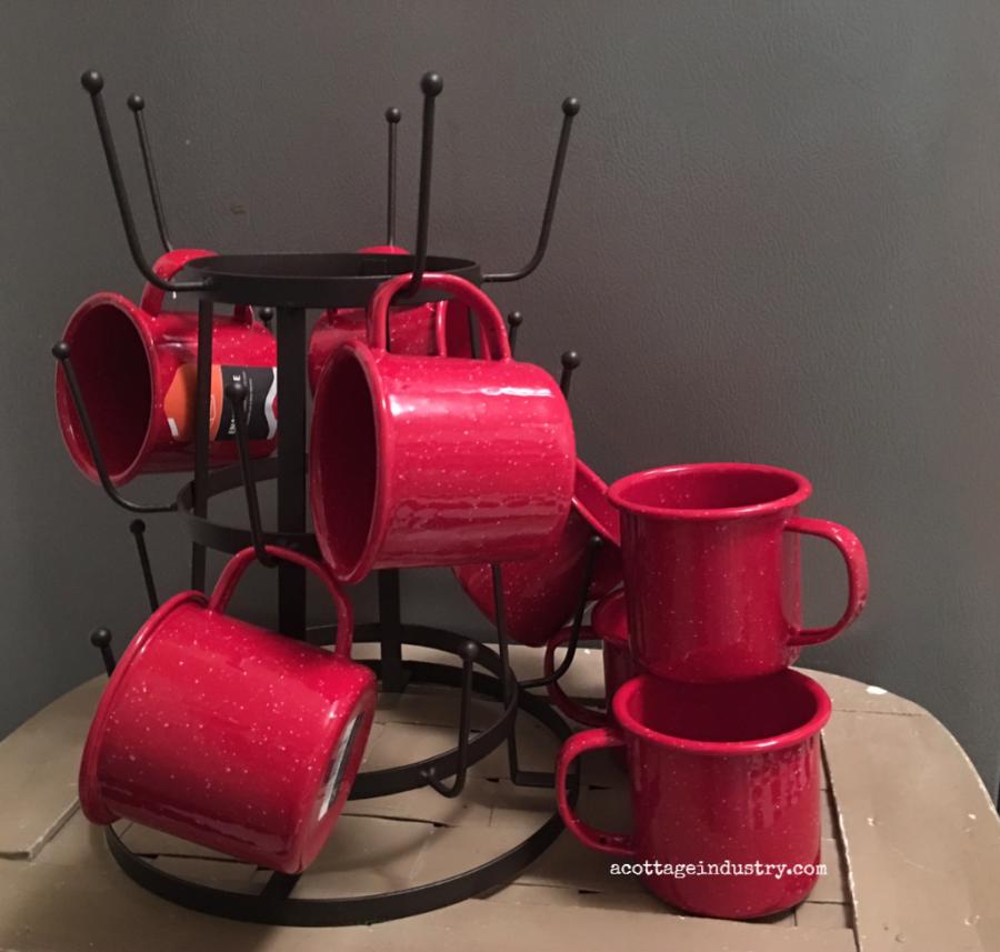 Camp cupcake mugs