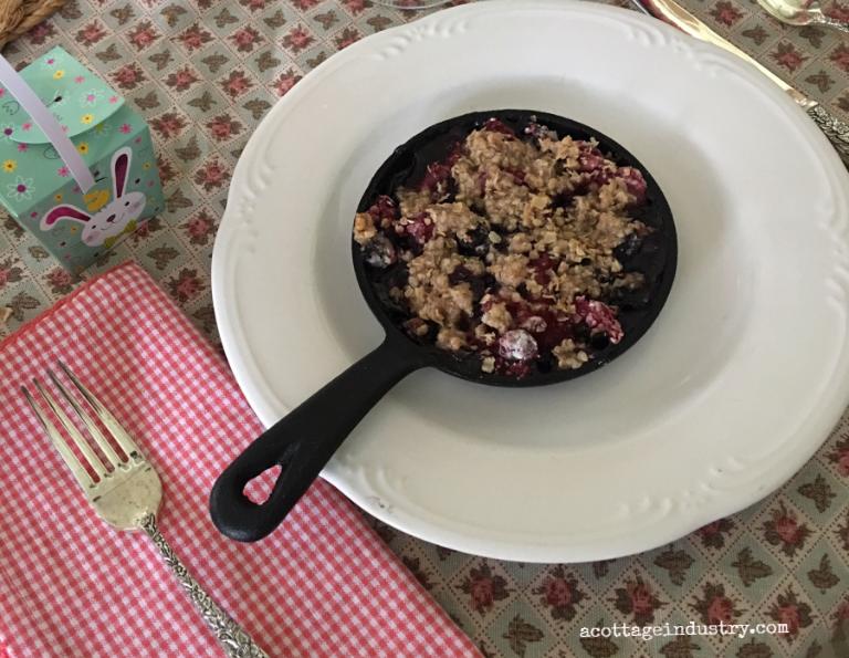 berry cobbler for breakfast