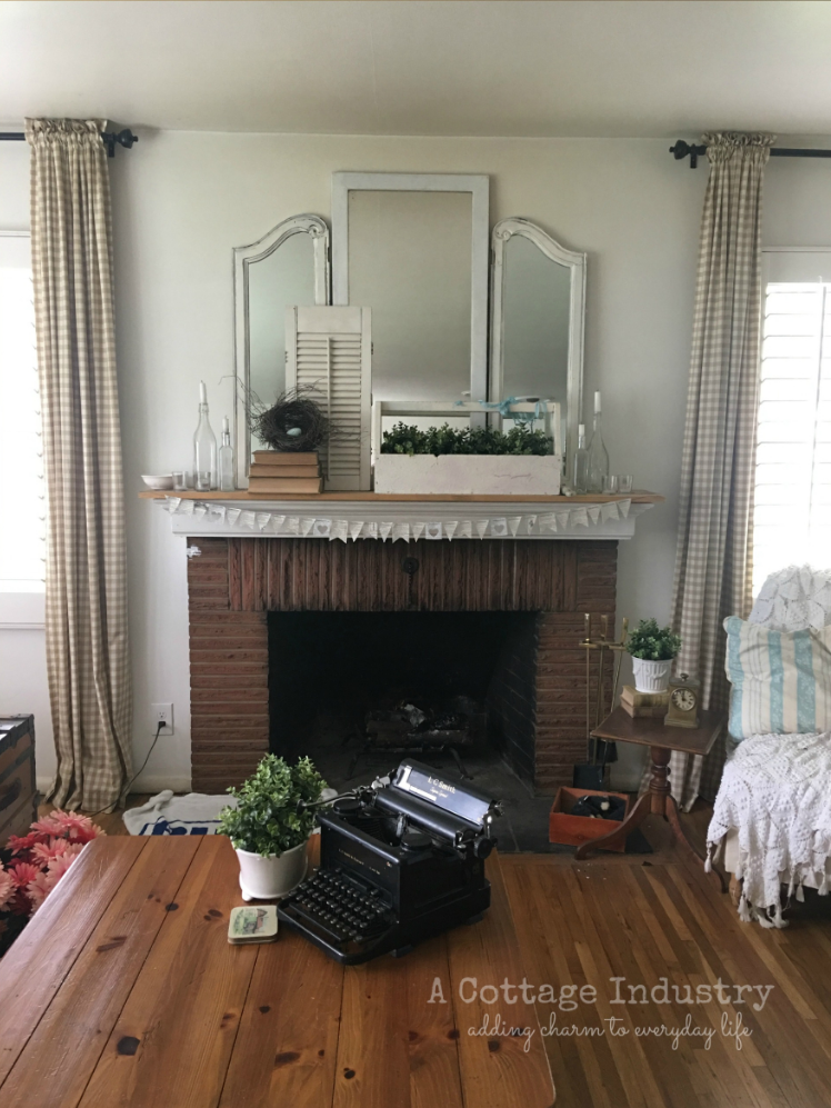 Fireplace before paint
