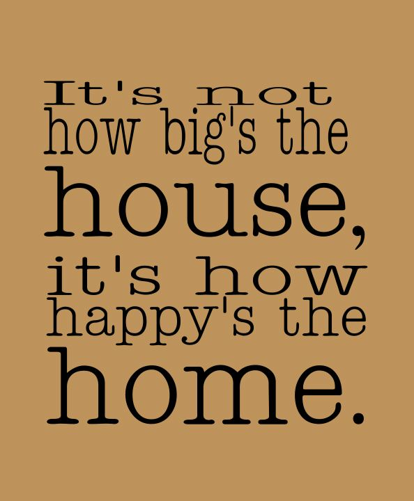 Happy home quote