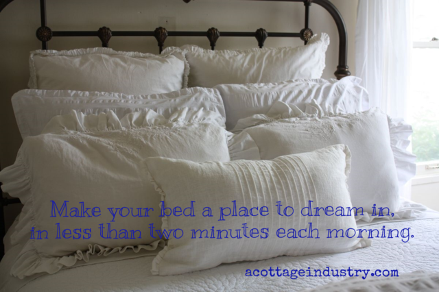 acottageindustry.com make your bed dream-worthy