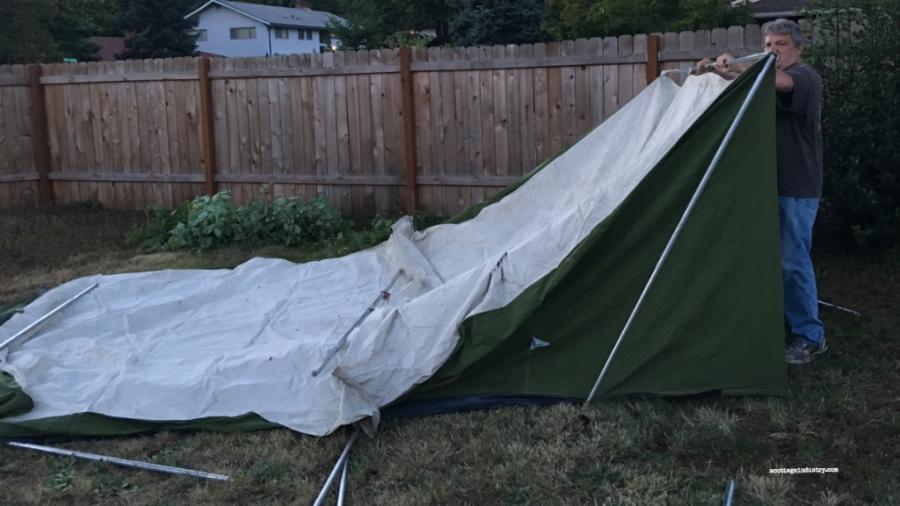 Camp cupcake tent