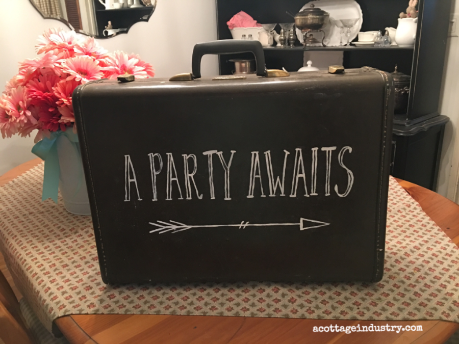 suitcase sign