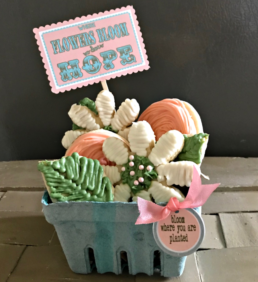 May Day Flower Cookies
