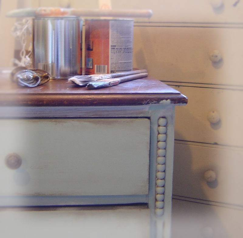 A_french_blue_dresser_in_progress