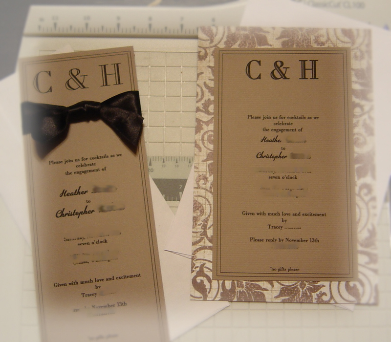 Notes from A Cottage Industry An engagement party – Engagement Party Invitation Ideas